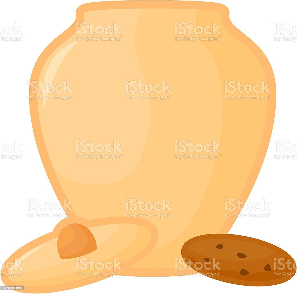 cookie jar vector art illustration