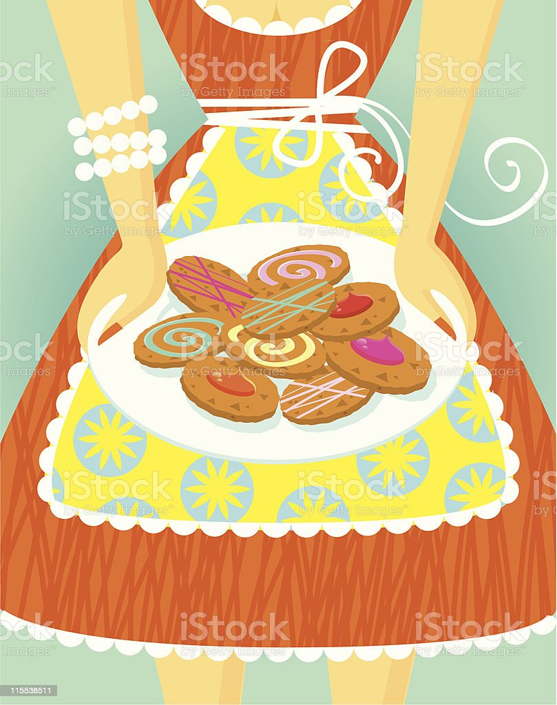 Cookie mama royalty-free stock vector art
