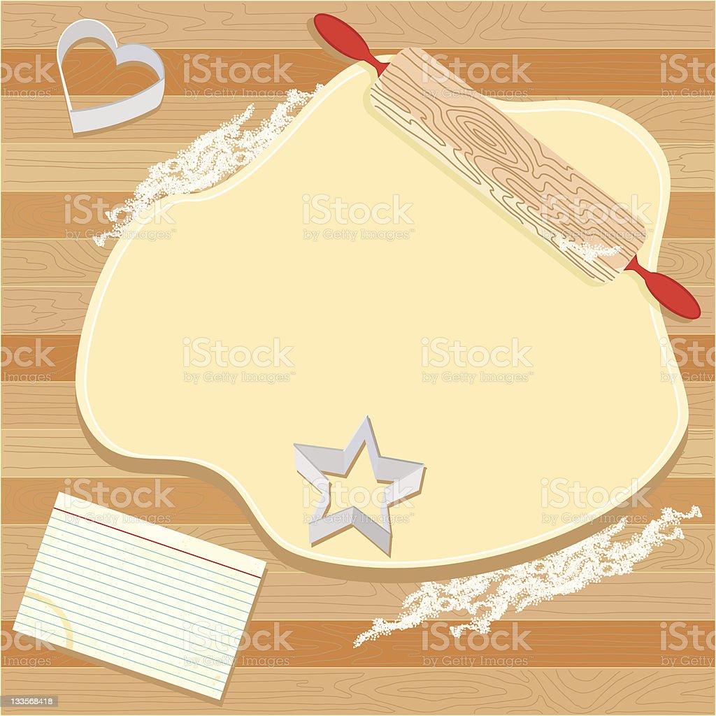 Cookie Party Invitation vector art illustration