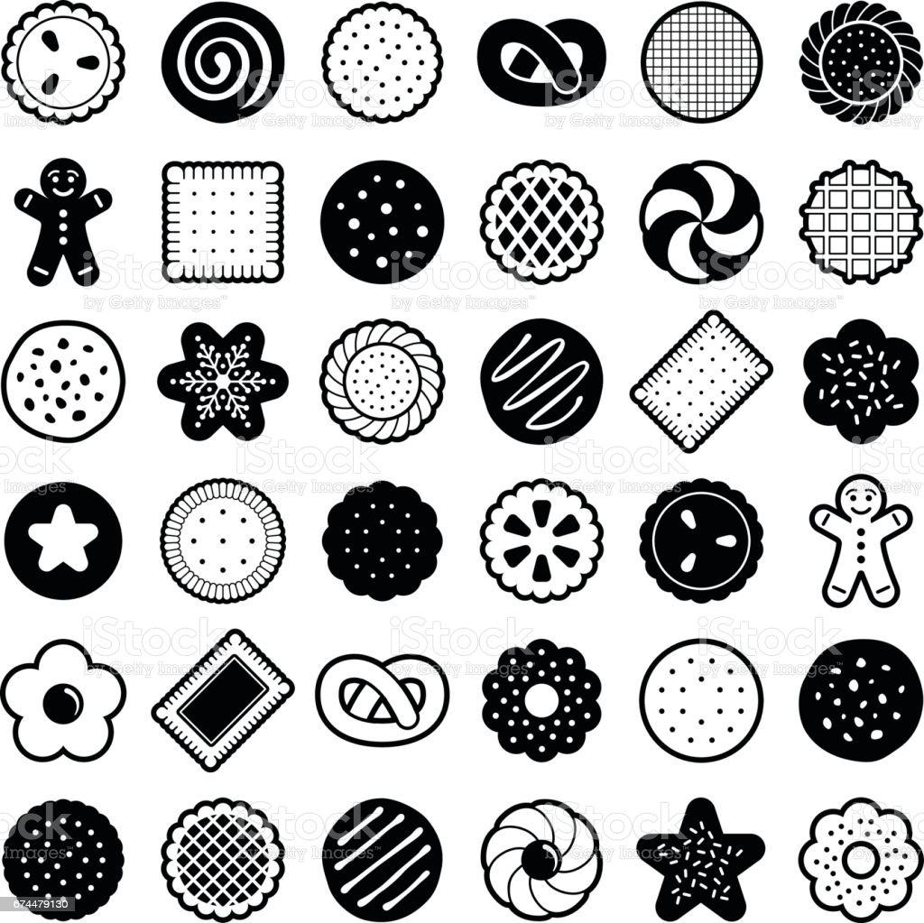 Cookie vector art illustration