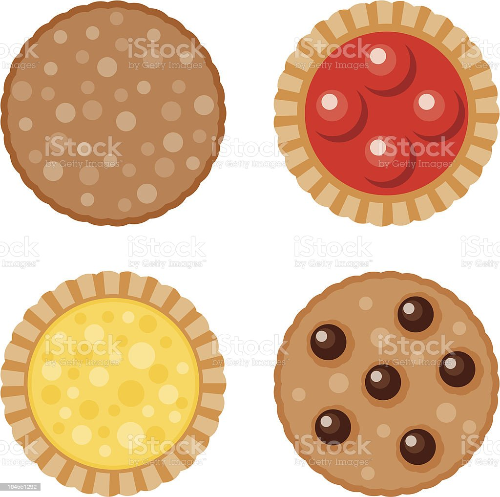 Cookies and Tarts vector art illustration