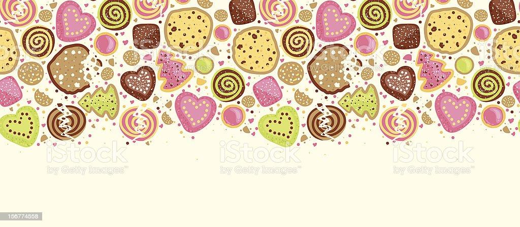 Cookies Horizontal Seamless Pattern Ornament royalty-free stock vector art