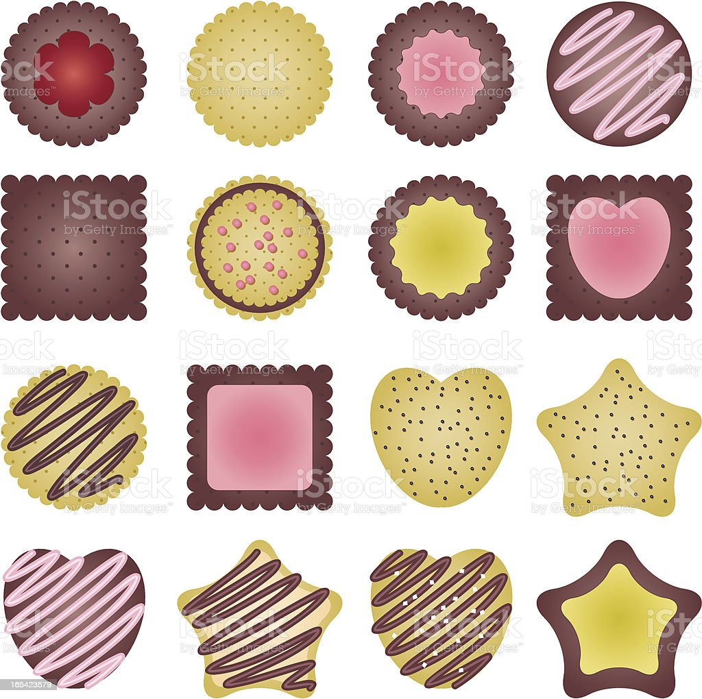 Cookies set royalty-free stock vector art