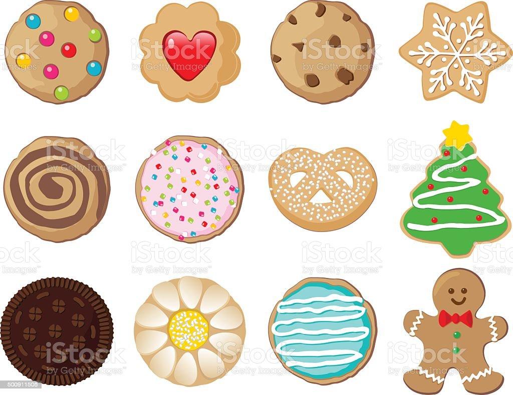 Cookies vector art illustration