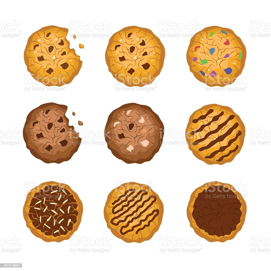 Cookies vector art illustration