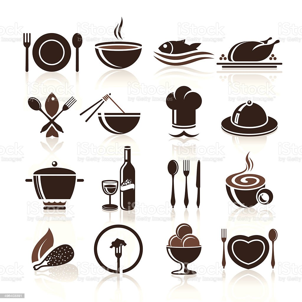 Cooking and kitchen icon set royalty-free stock vector art