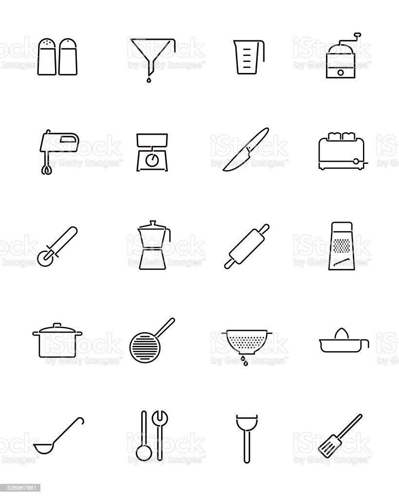 Cooking Appliances Vector Line Icons Collection vector art illustration