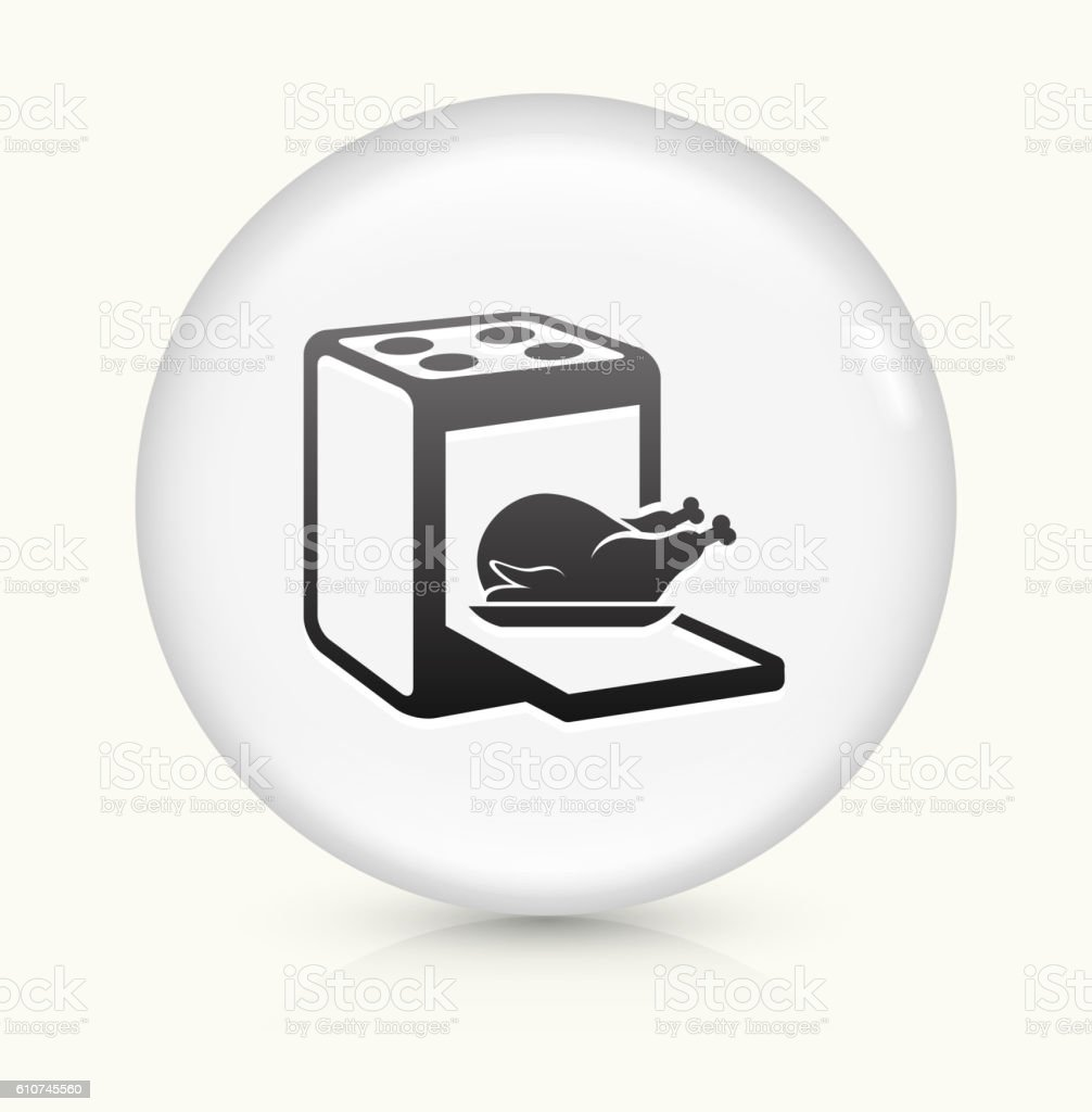 Cooking Bird icon on white round vector button vector art illustration