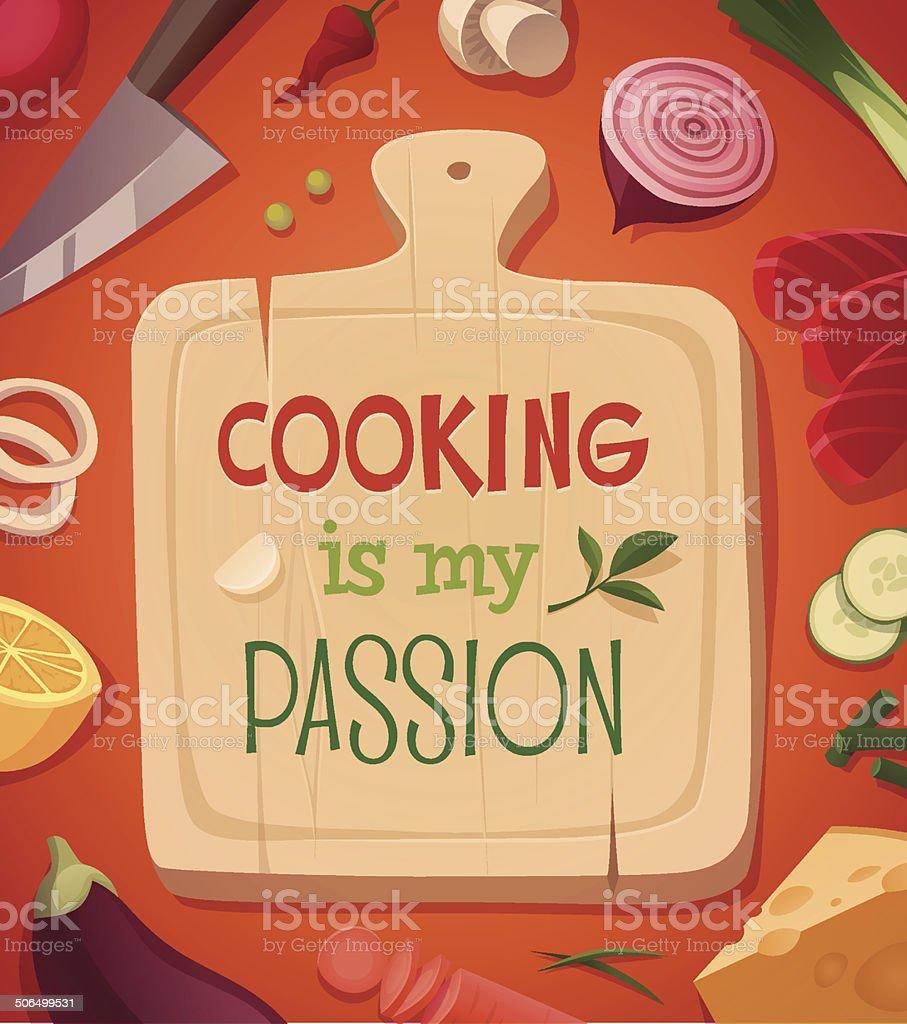 Cooking card \\ poster design. Vector illustration vector art illustration