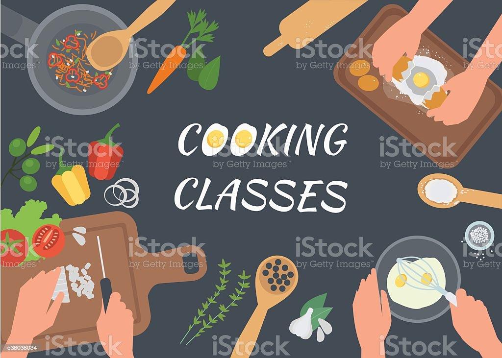 Cooking Classes vector art illustration