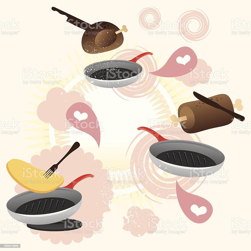 Cooking crazy fantasy vector art illustration