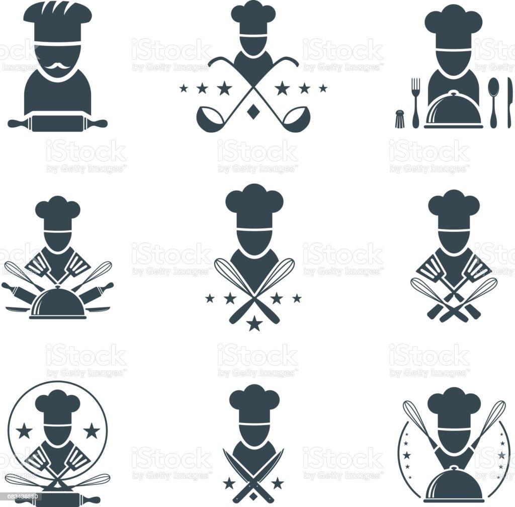 cooking emblem vector art illustration