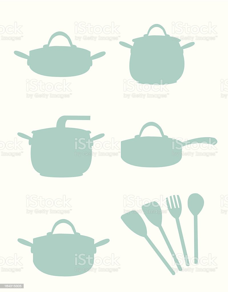 Cooking Equipment Silouette royalty-free stock vector art