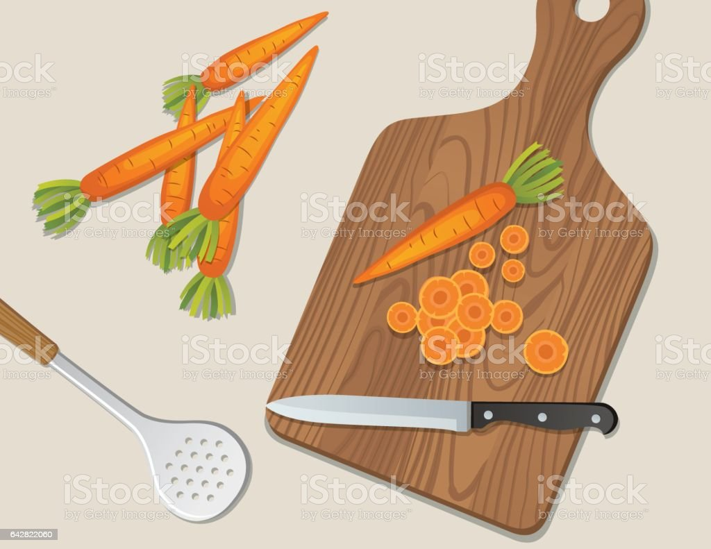 Cooking Food And Vegetables Backgrounds vector art illustration