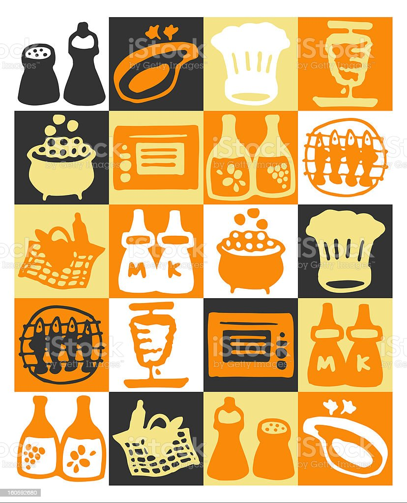 cooking icons royalty-free stock photo