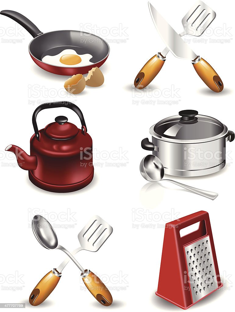 Cooking Icons vector art illustration
