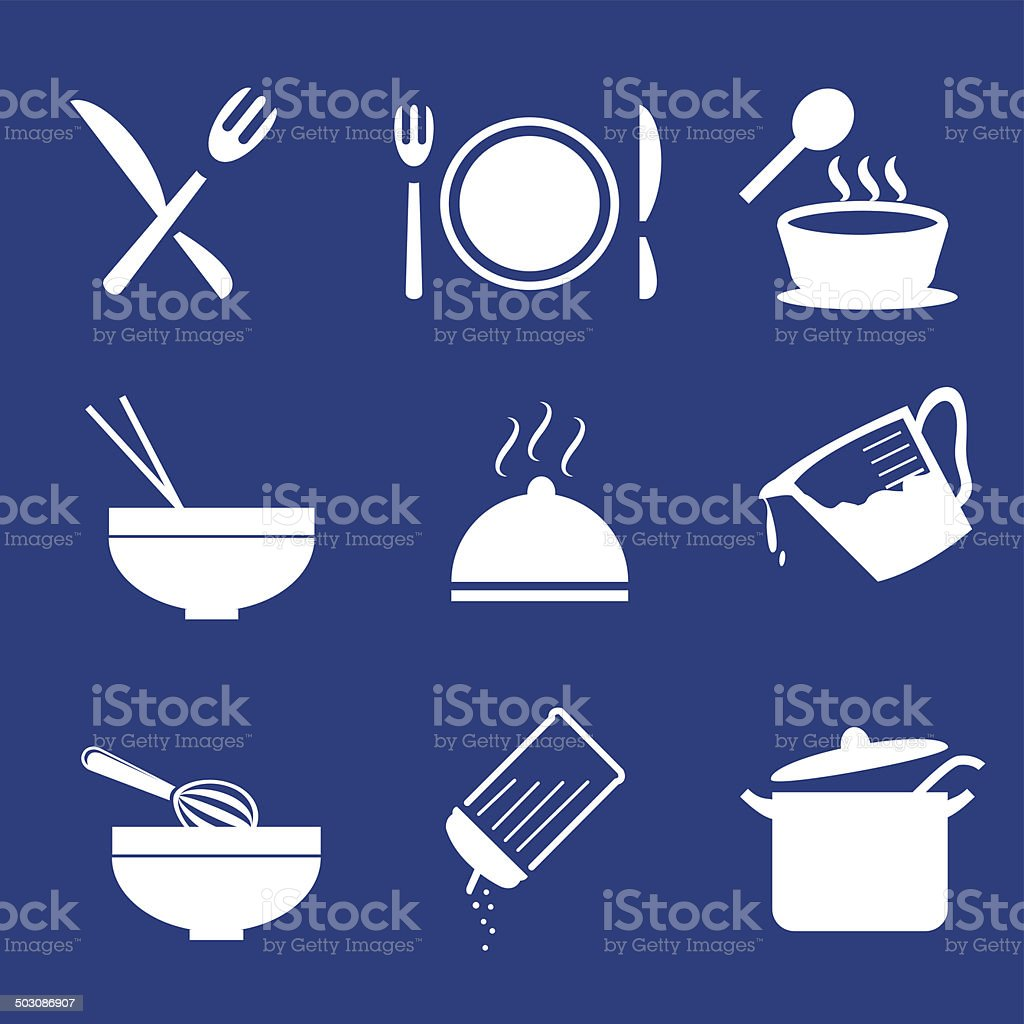 Cooking Icons- Vector royalty-free stock vector art