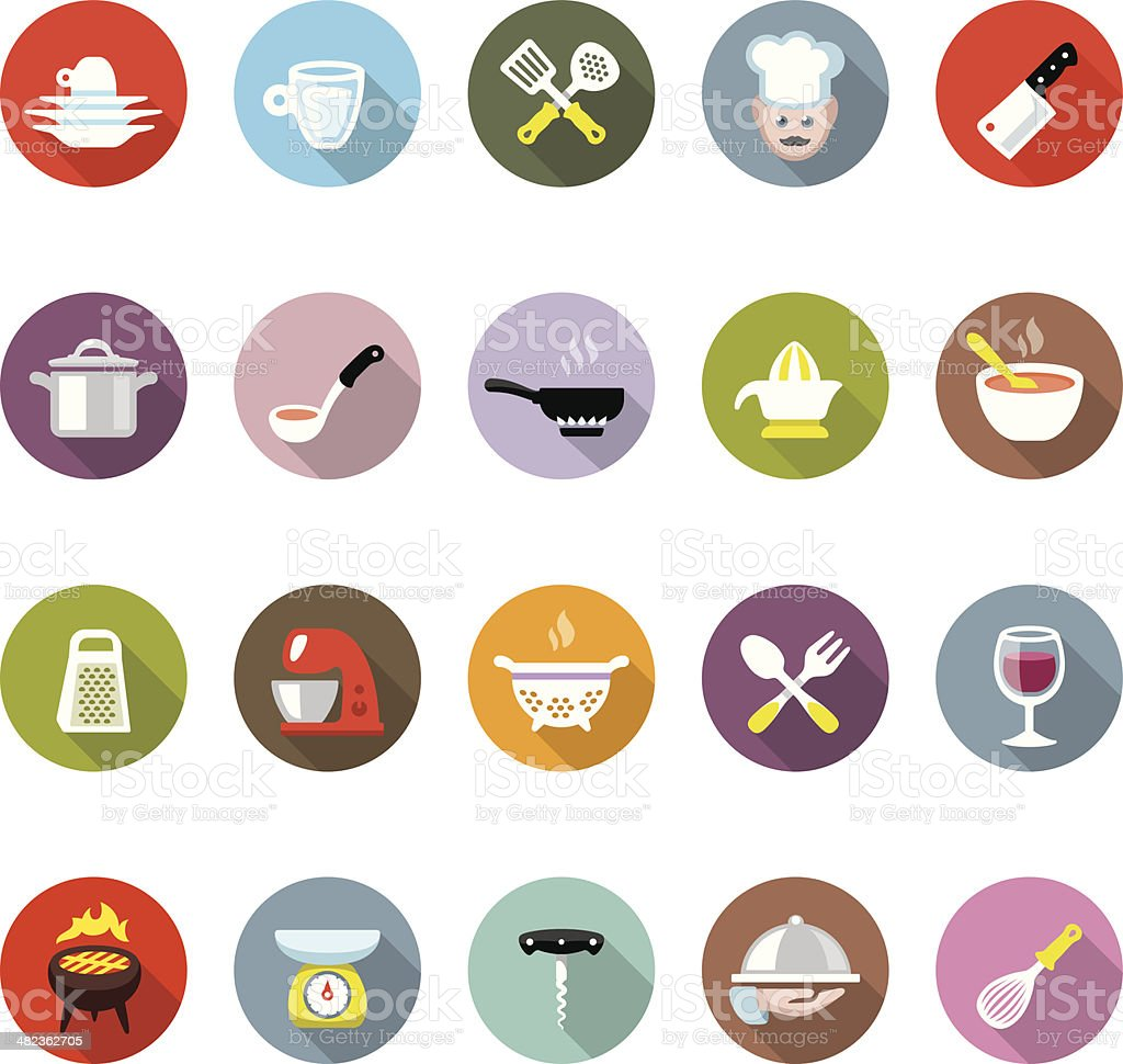 Cooking / Modico icons vector art illustration