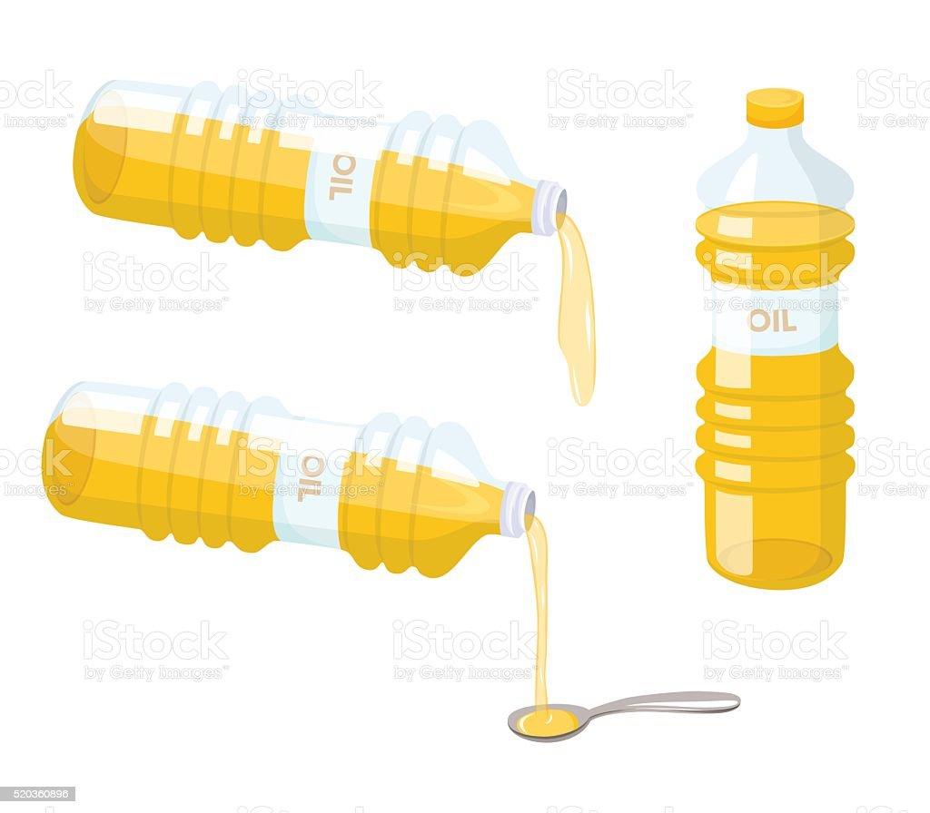 Cooking oil set vector art illustration