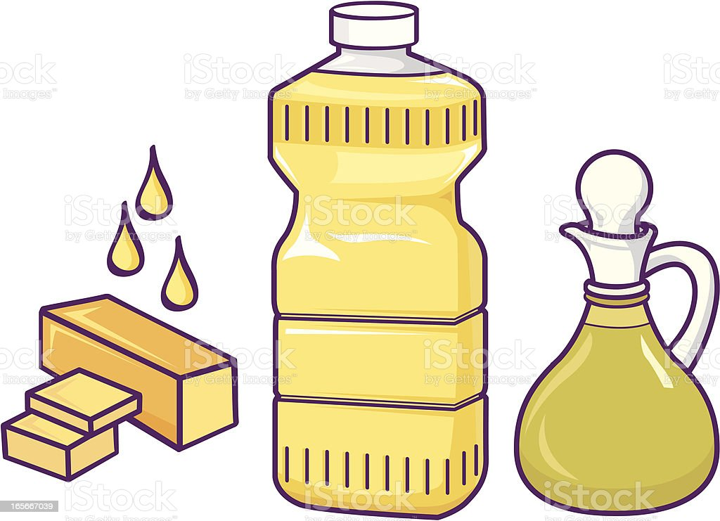 cooking oils vector art illustration