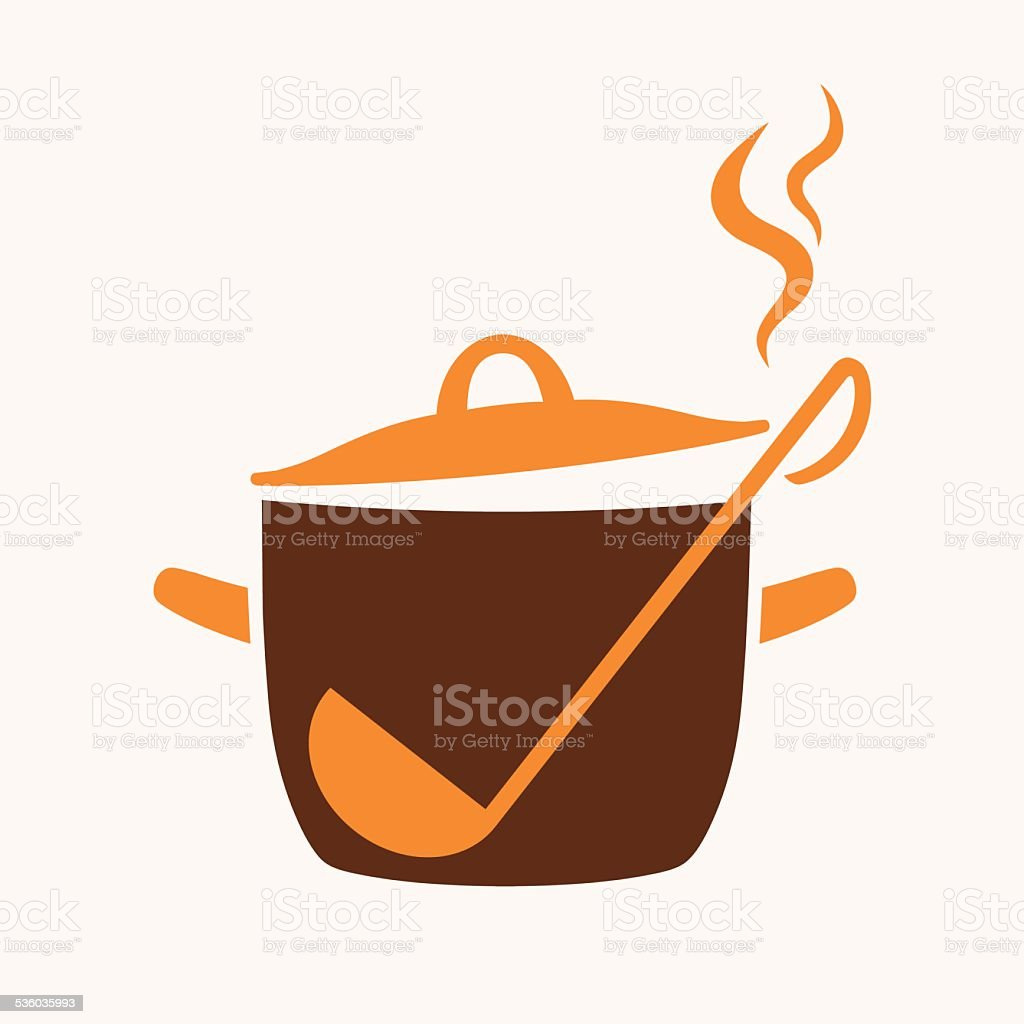 Cooking pan icon vector art illustration