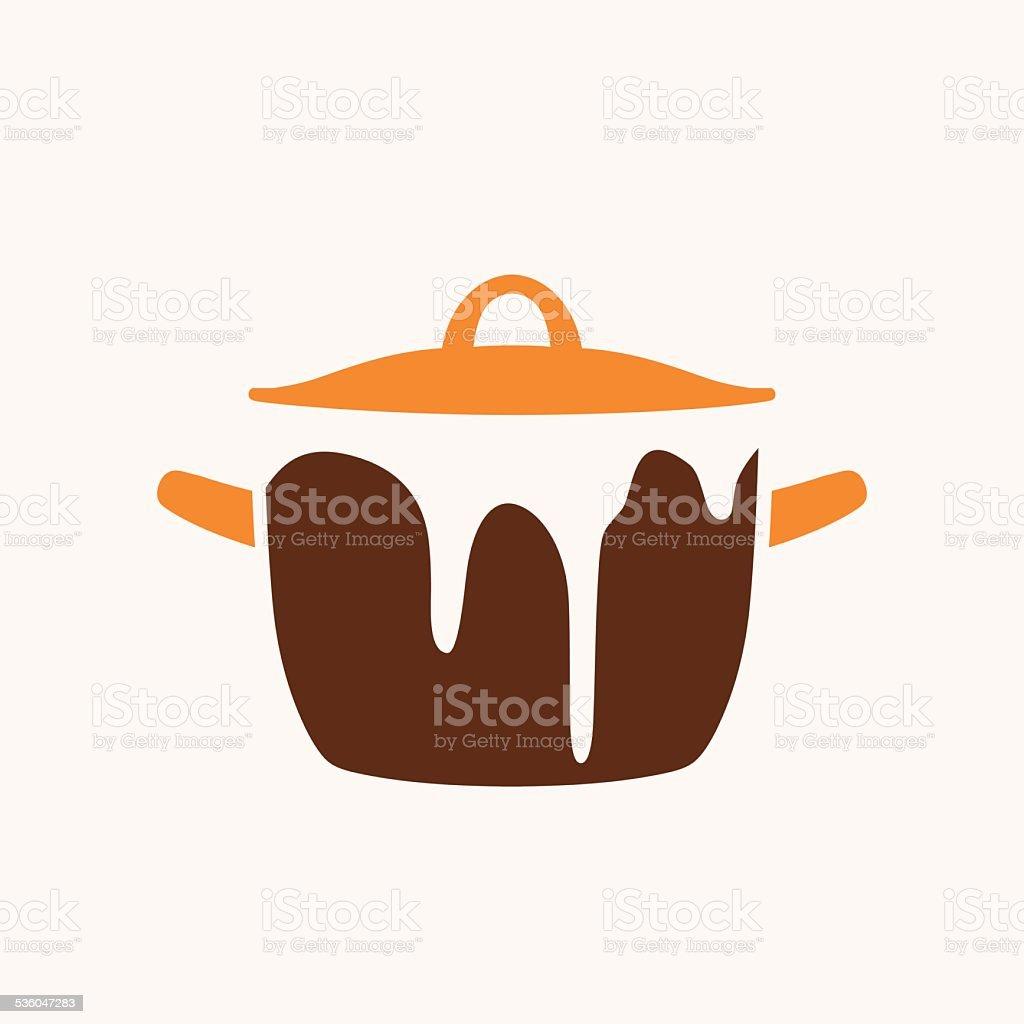 Cooking pan vector art illustration