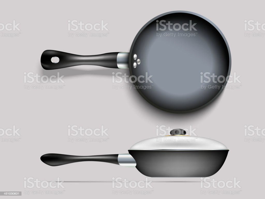 cooking pans royalty-free stock vector art