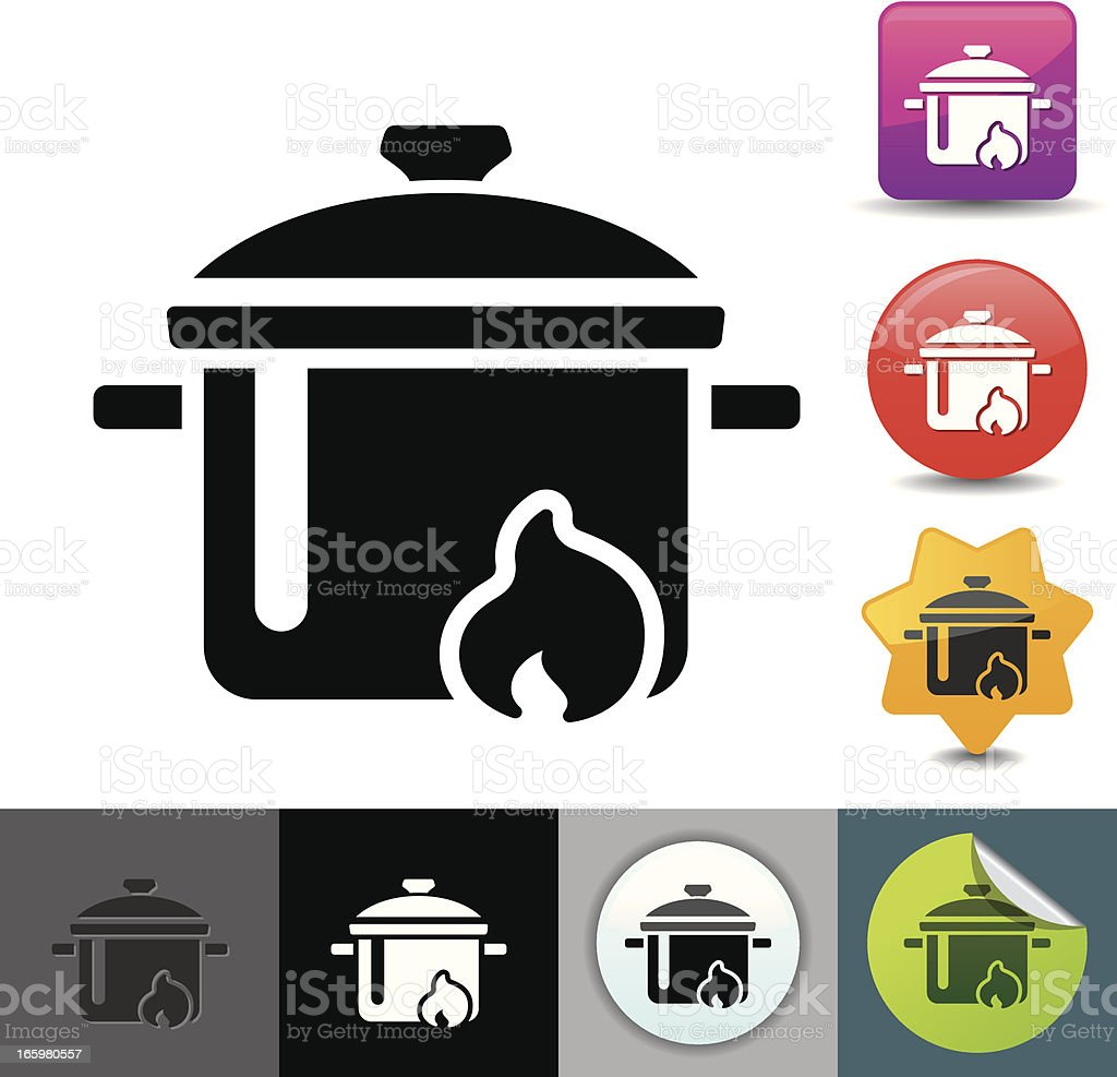 Cooking pot icon | solicosi series royalty-free stock vector art