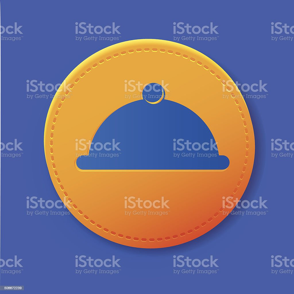 Cooking symbol on button,vector royalty-free stock vector art