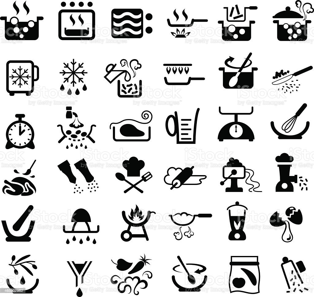 Cooking Symbols vector art illustration