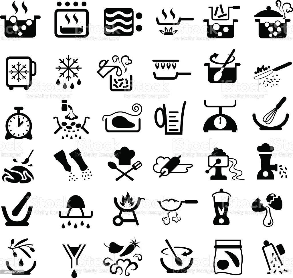 Cooking Symbols vector art illustration