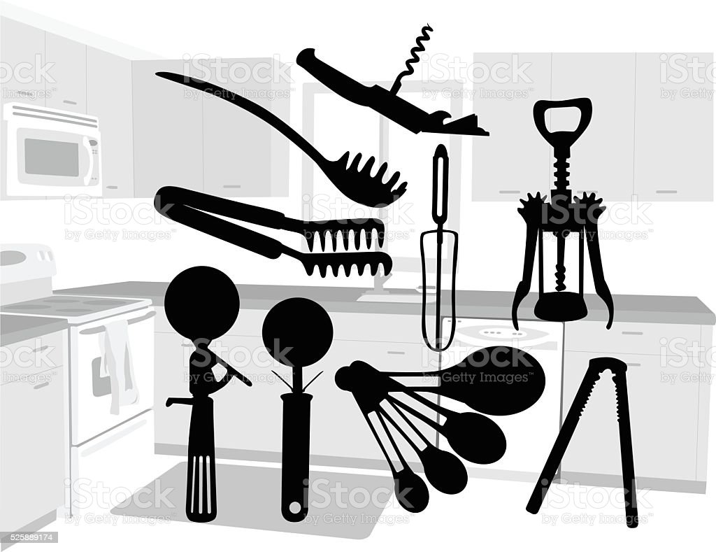 Cooking Tools vector art illustration