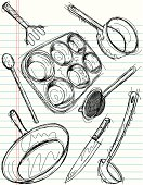 cooking utensil sketches