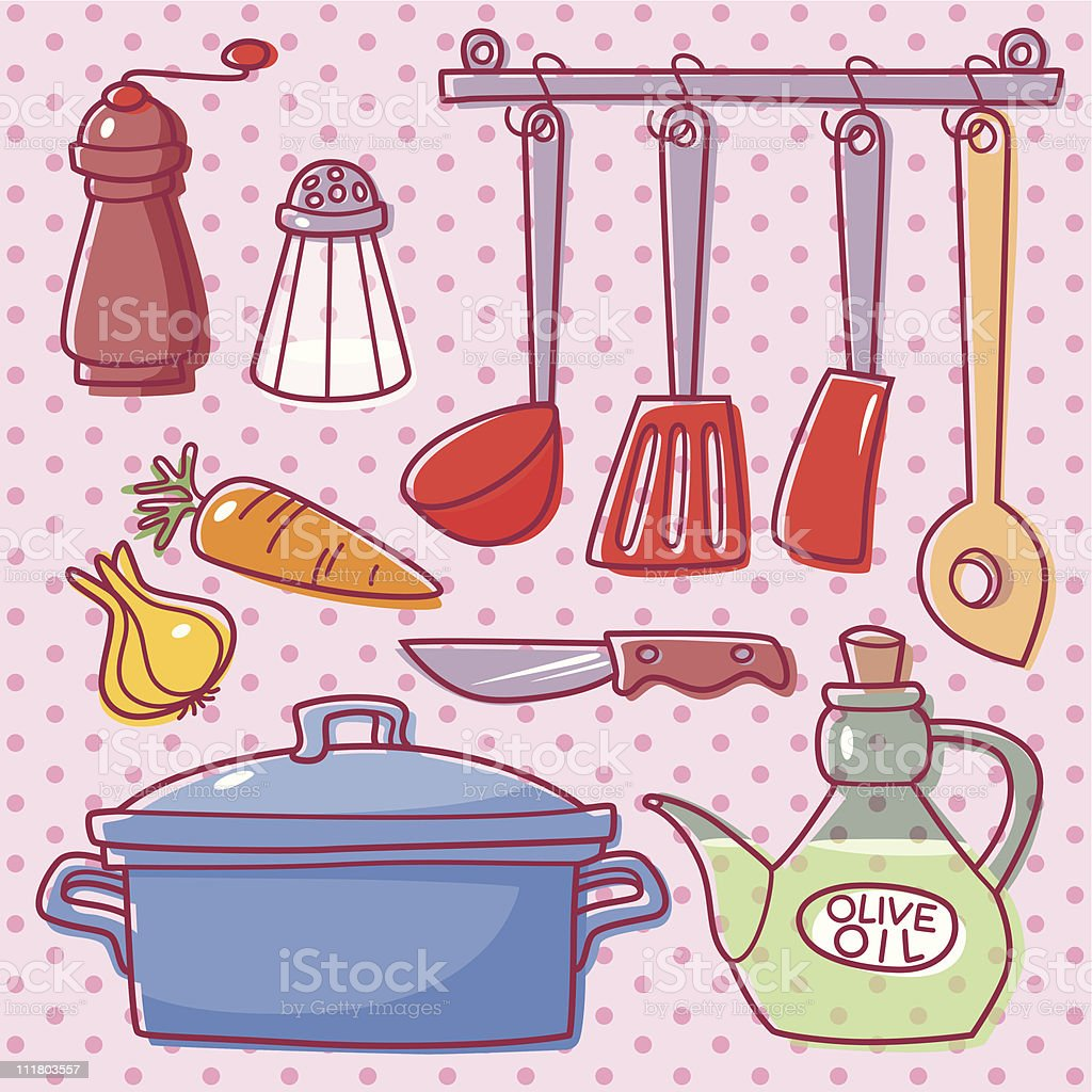 Cooking. vector art illustration