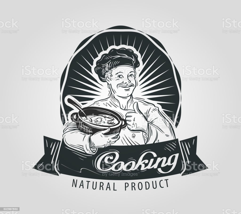 cooking vector logo design template. restaurant, food or cook, chef vector art illustration