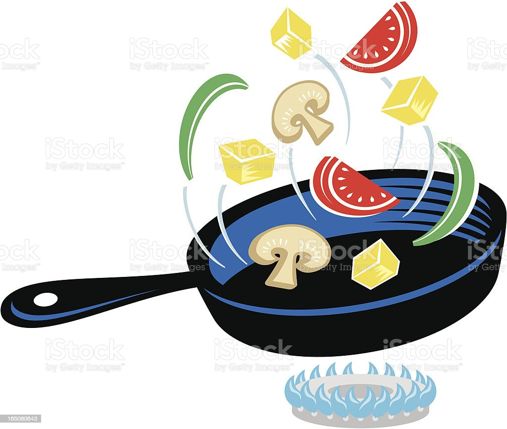 Cooking vegetables royalty-free stock vector art