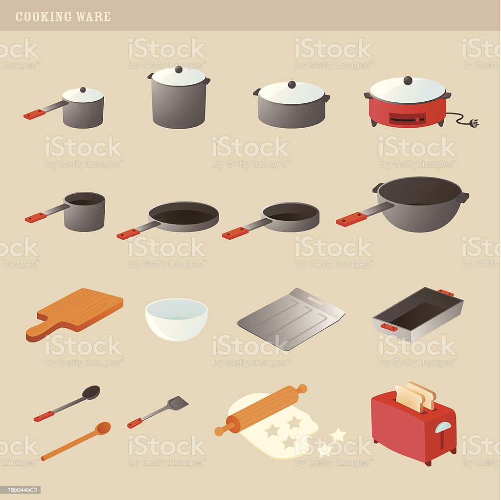 cooking ware vector art illustration