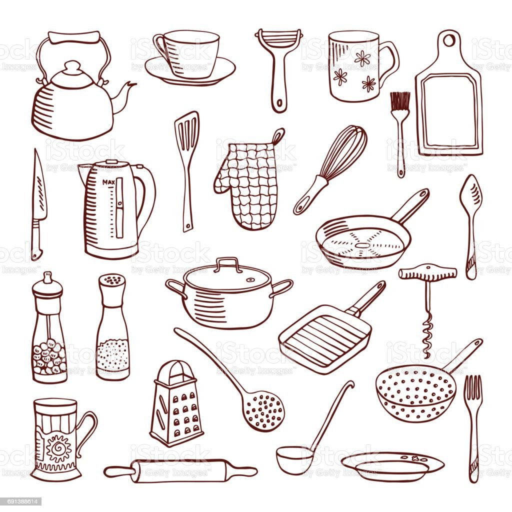 Cookware, vector illustration vector art illustration