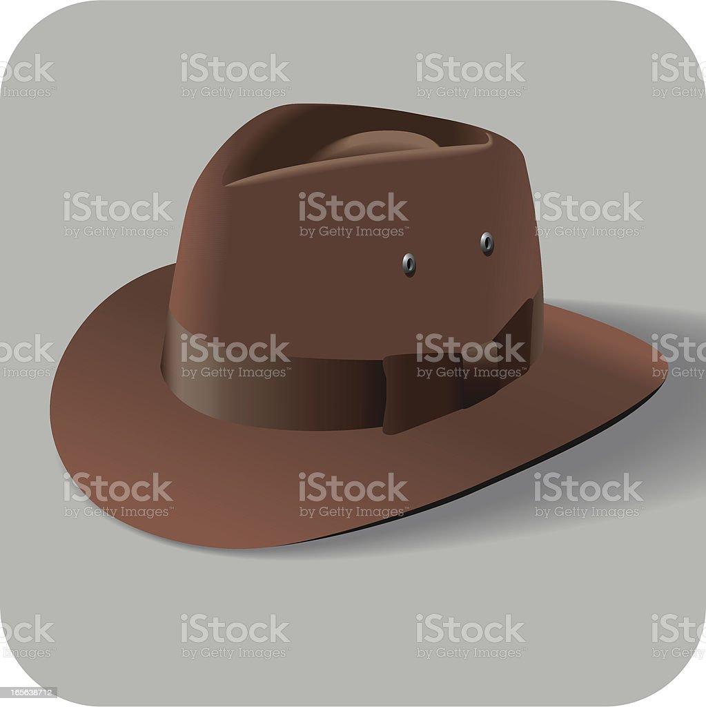 Cool Adventure Hat royalty-free stock vector art