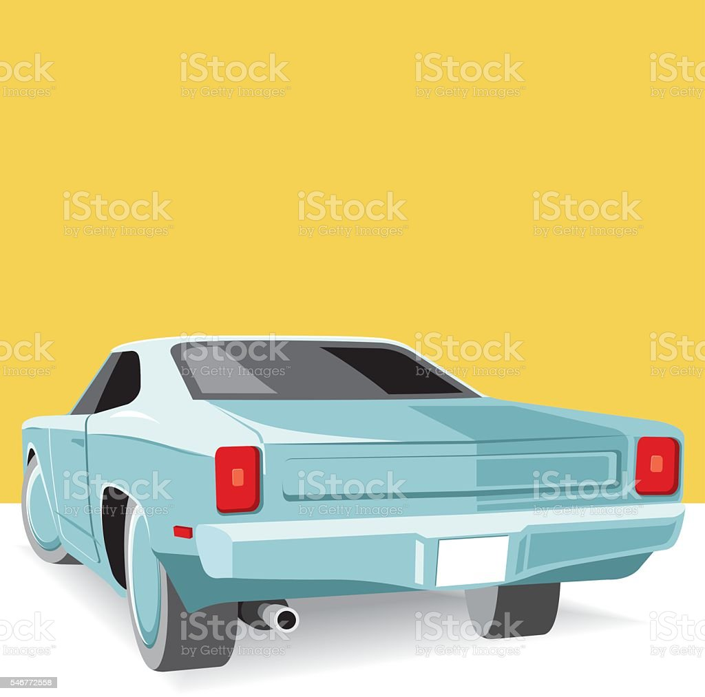 Cool American car vector art illustration