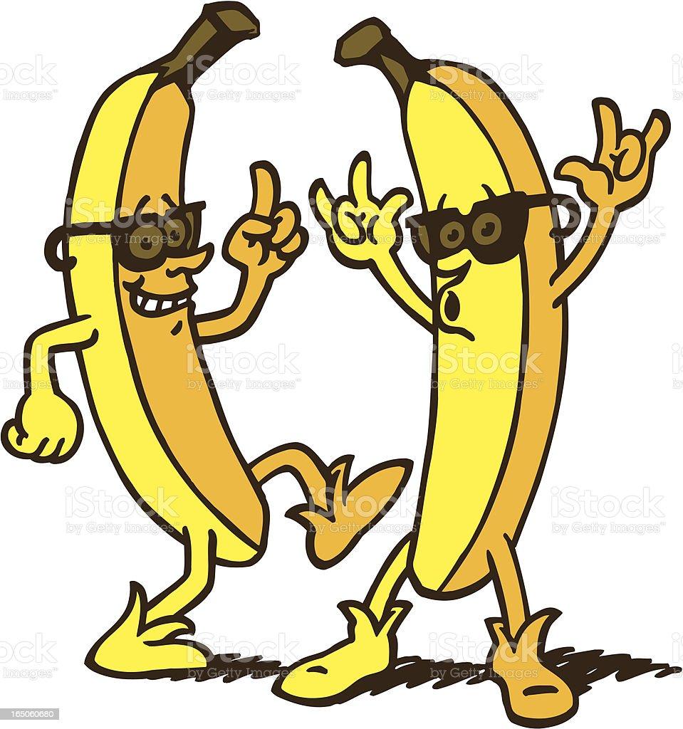 Cool Banana's vector art illustration