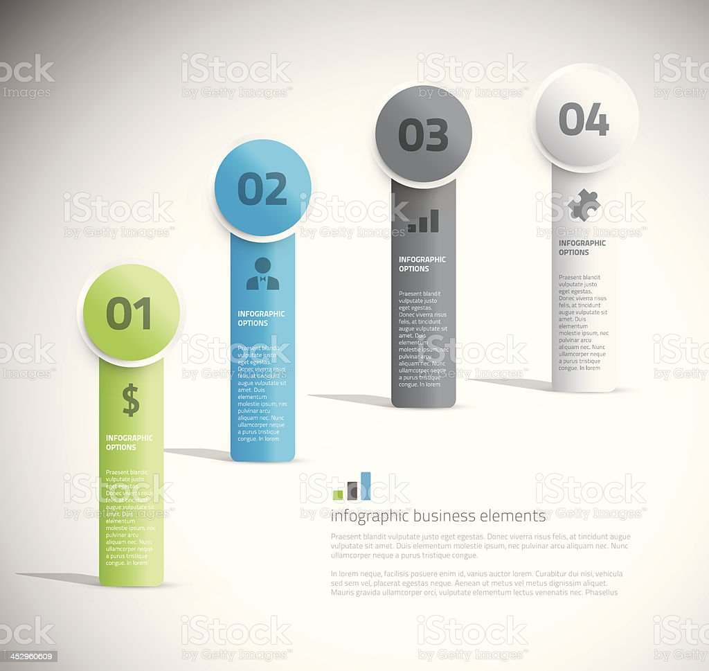 Cool business infographic elements vector royalty-free stock vector art