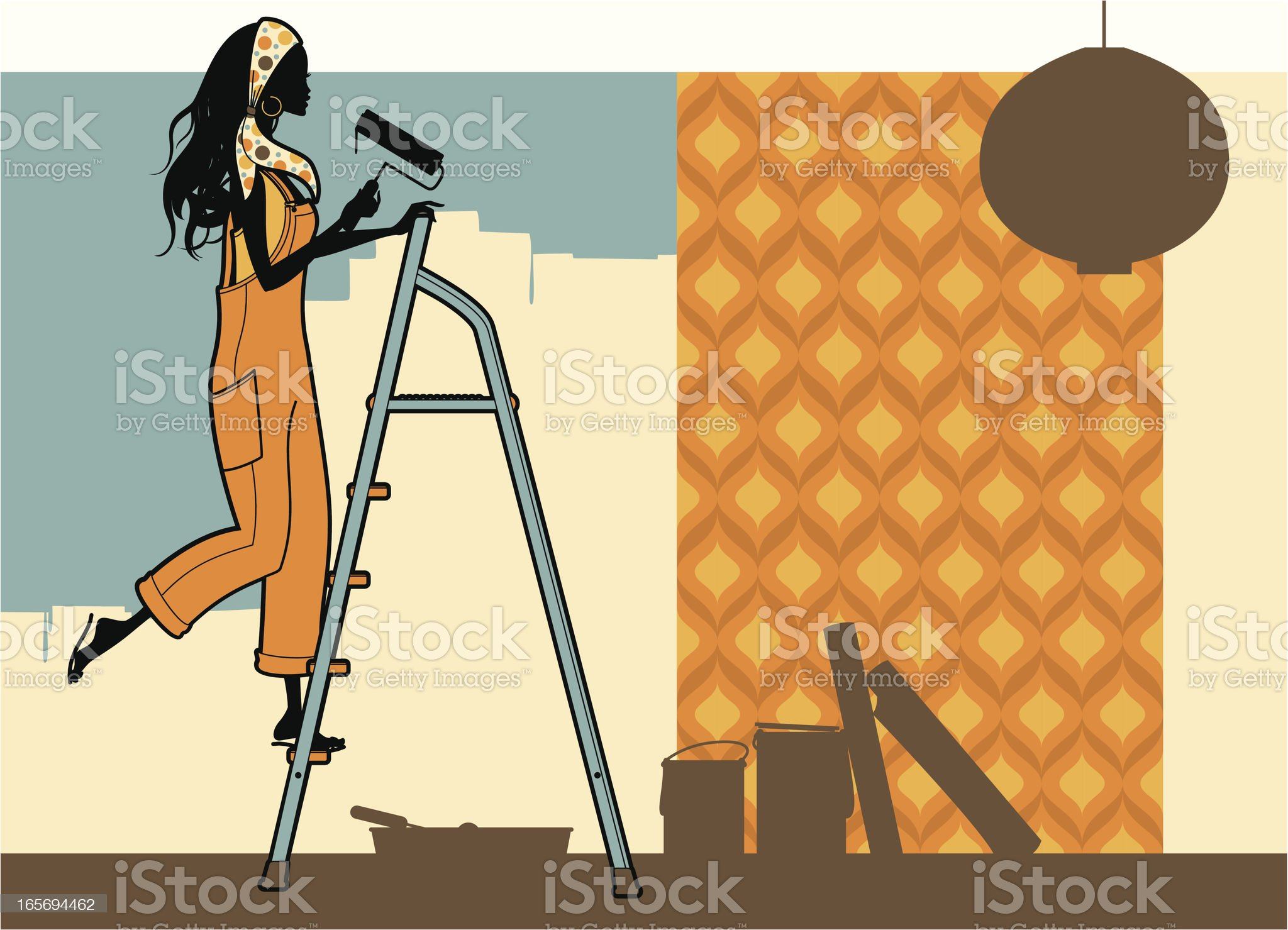 Cool Decorating royalty-free stock vector art