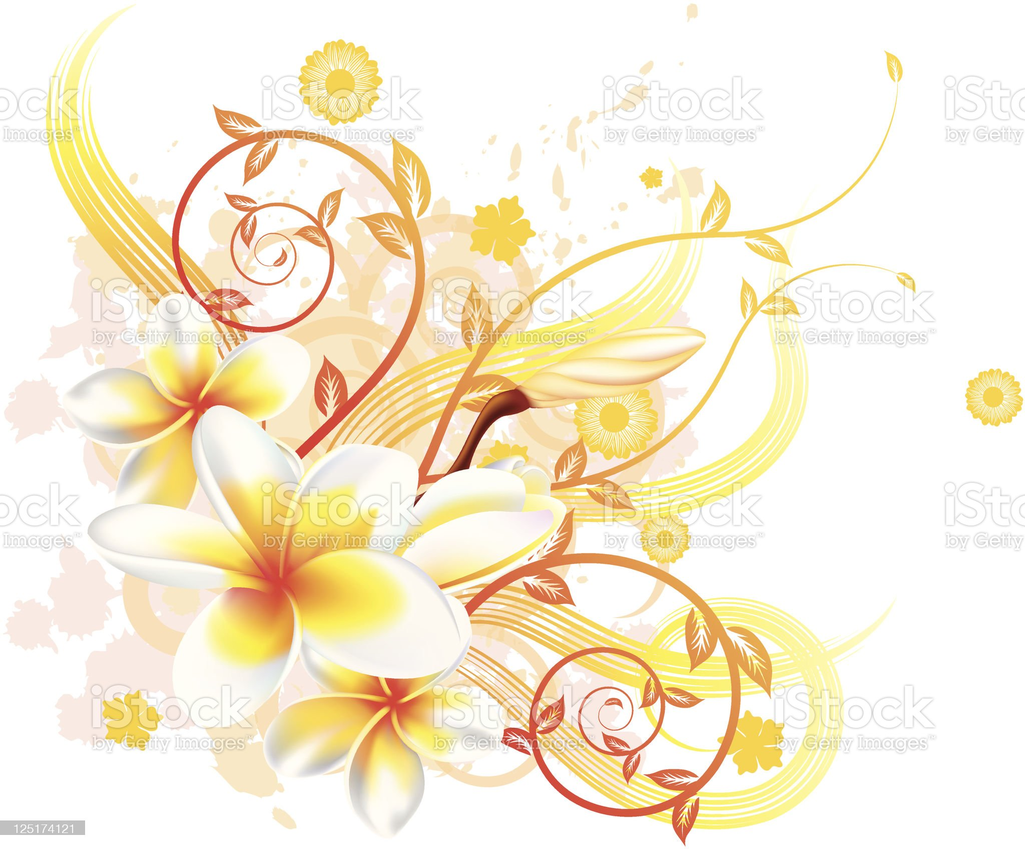 Cool floral background royalty-free stock vector art