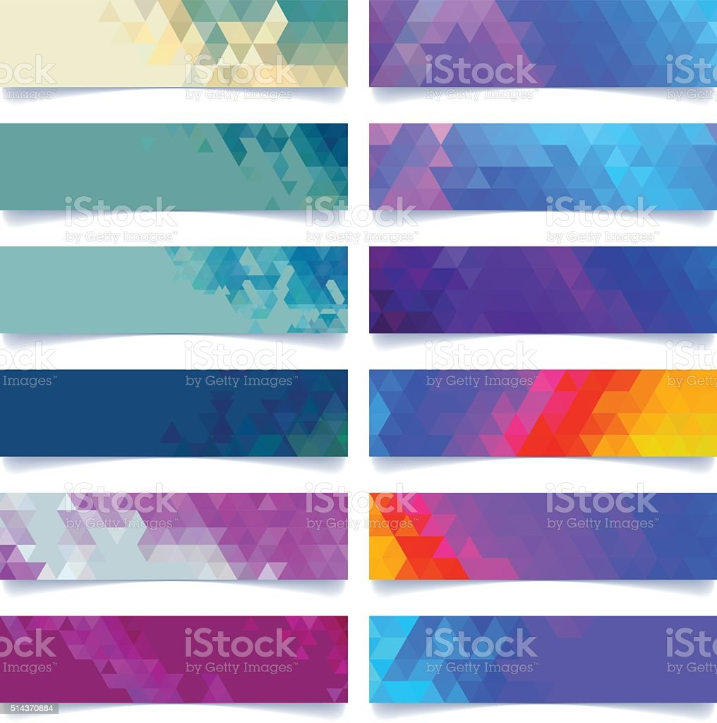 cool geometric banner vector art illustration