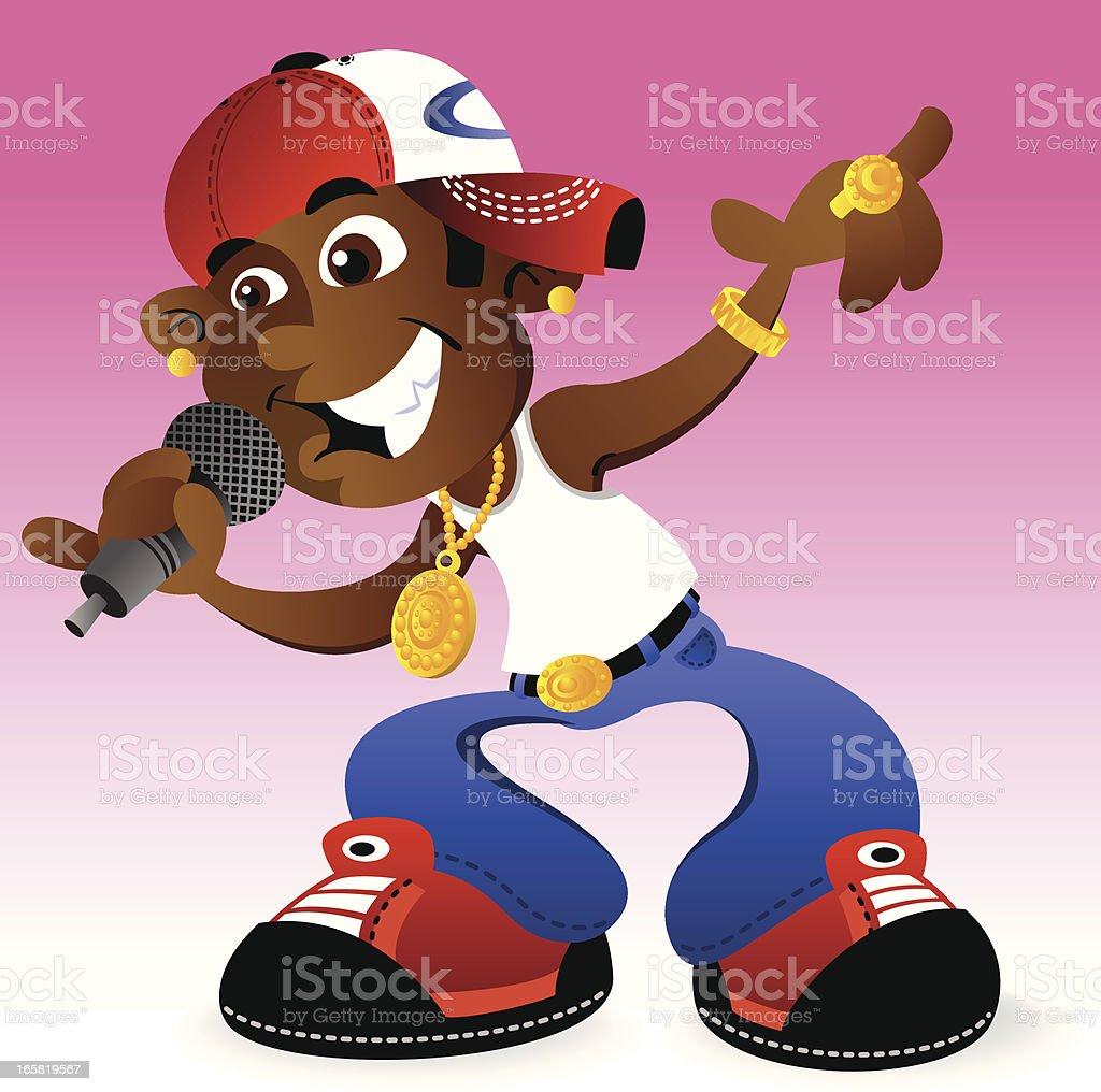 Cool Hip Hop Dude royalty-free stock vector art
