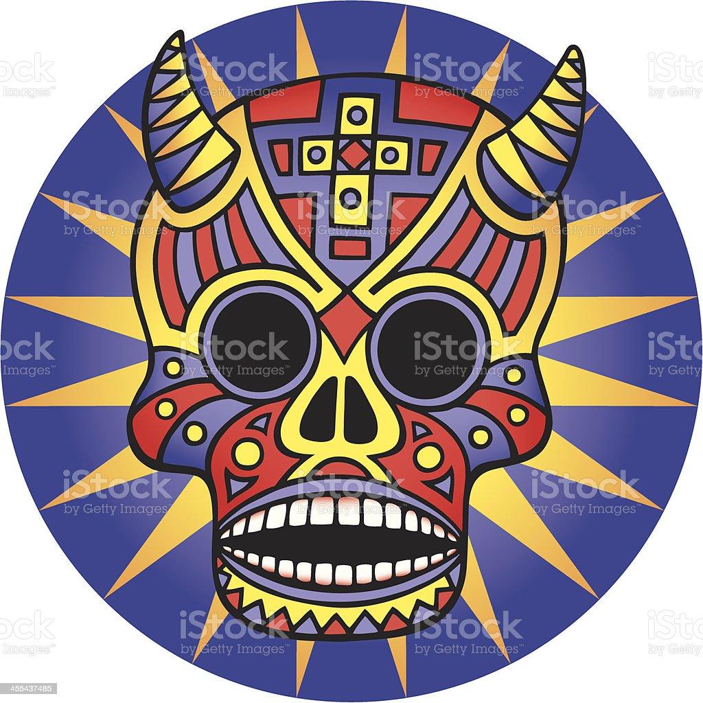 Cool Mexican Skull vector art illustration