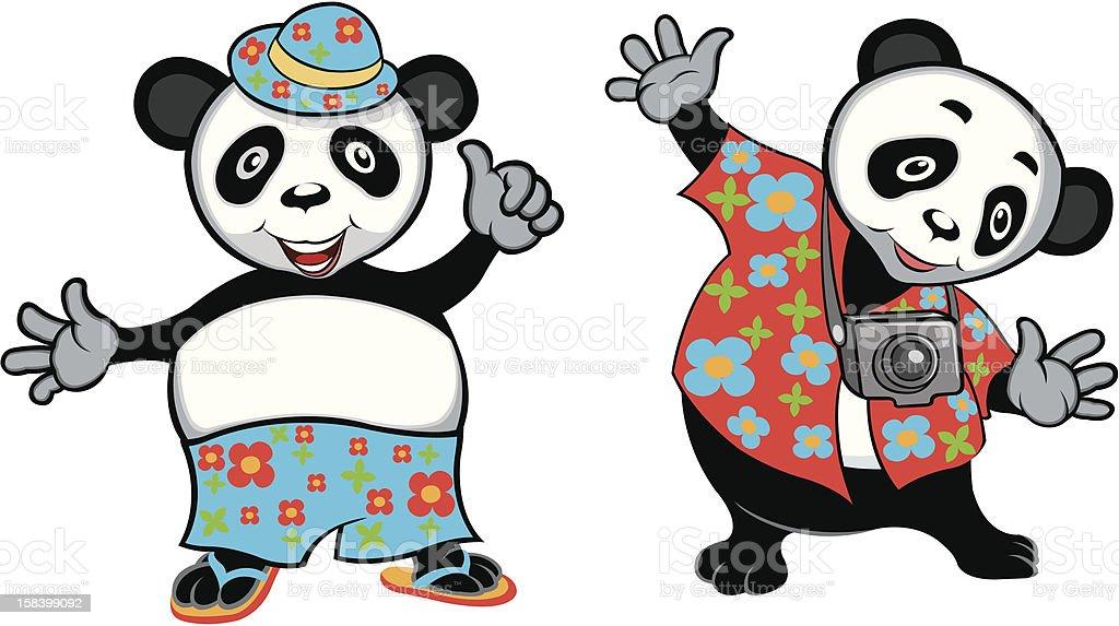 Cool Panda royalty-free stock vector art