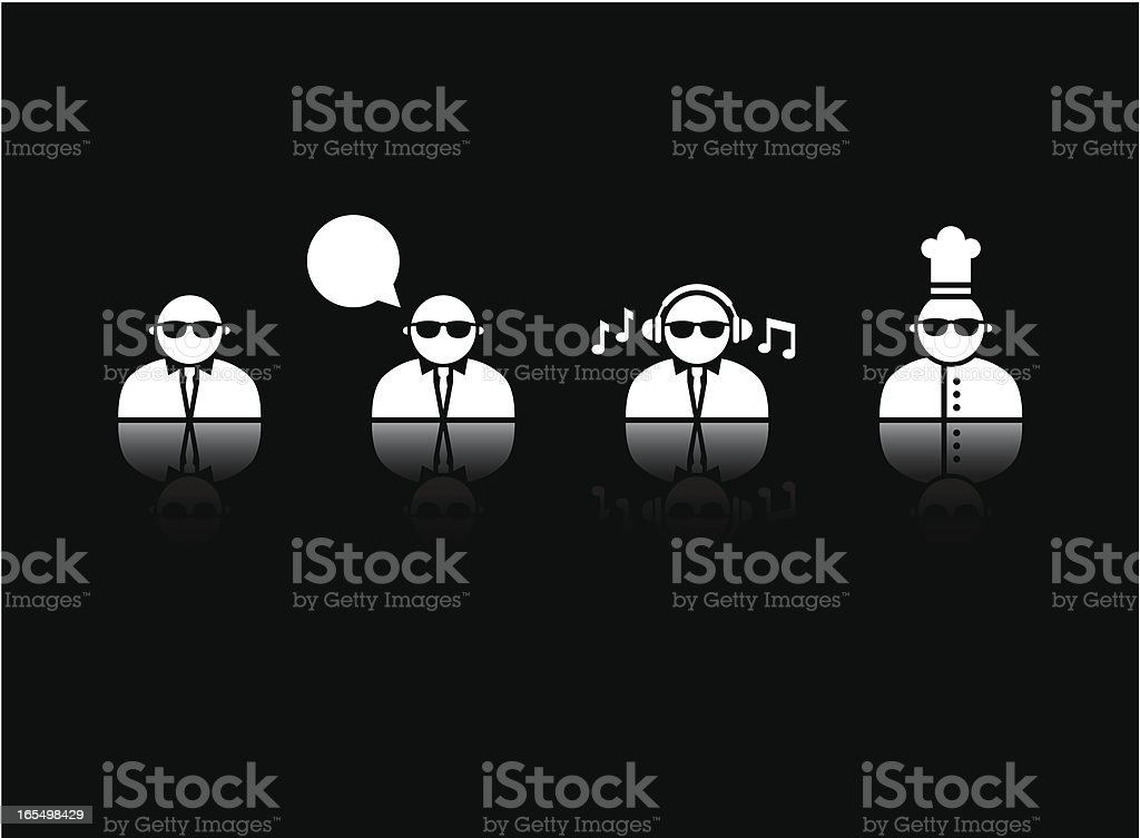 Cool People Icons royalty-free stock vector art