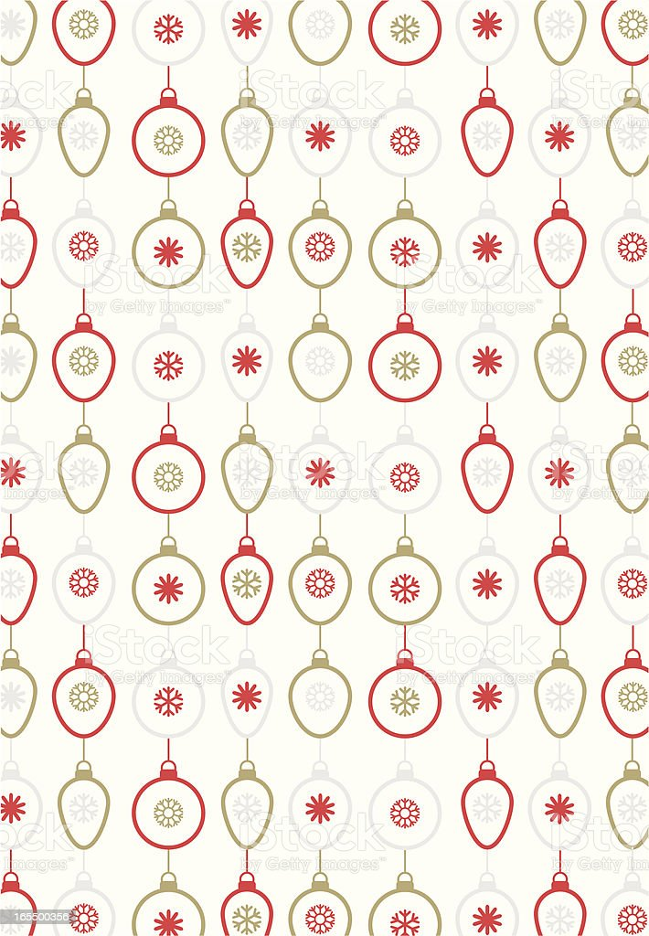 Cool Retro Christmas Baubles & Snowflakes Repeat royalty-free stock vector art